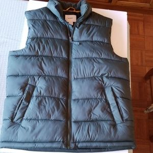 Old Navy Forest Green Puffer Vest, Size: Medium